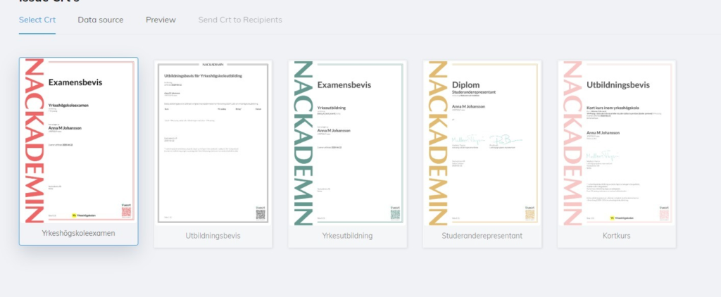 Nackademin-diplomas