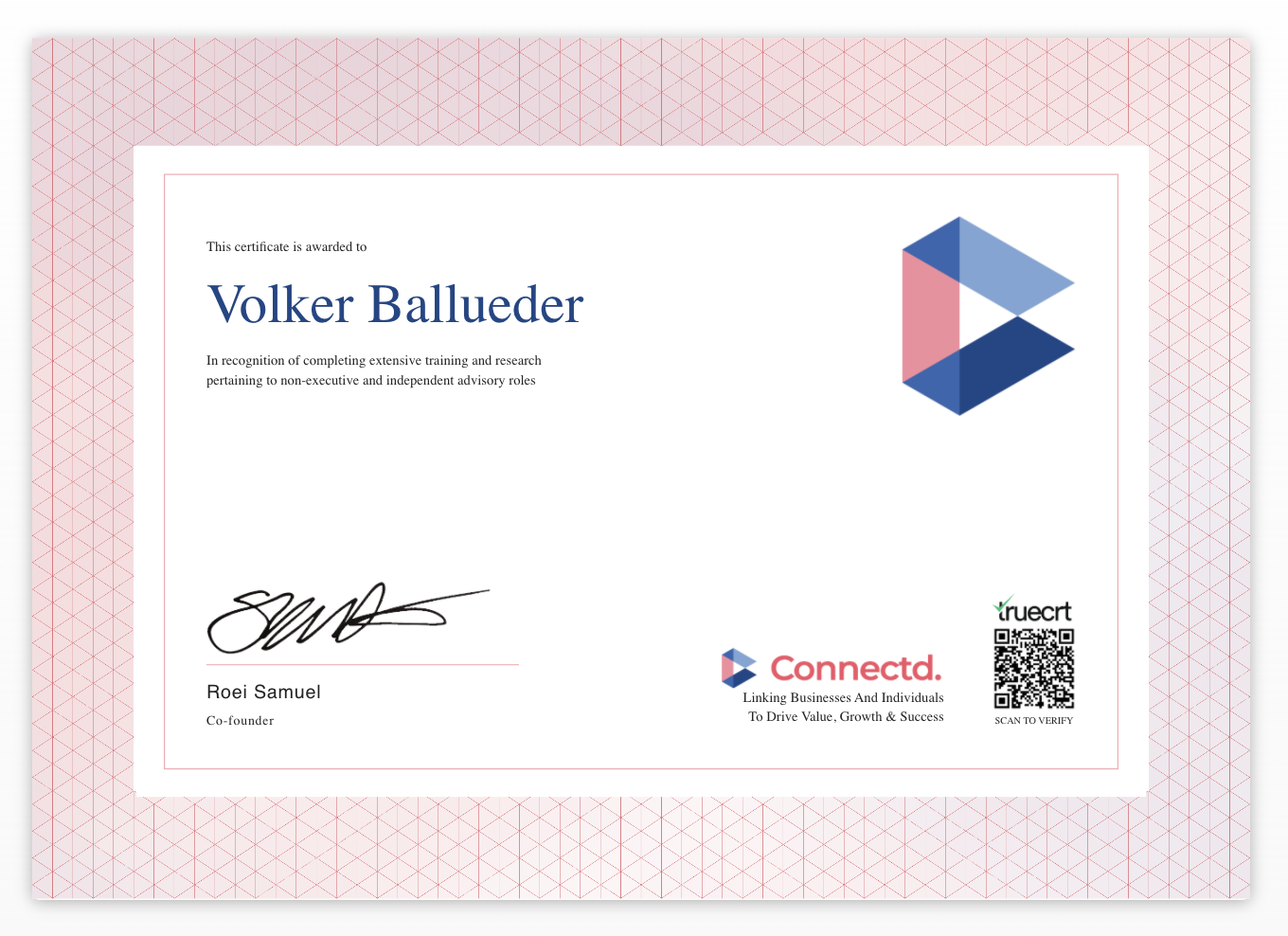 Connectd NED Certificate