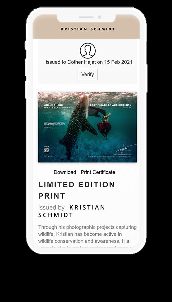 Kristian Schmidt digital proof of authentication in phone