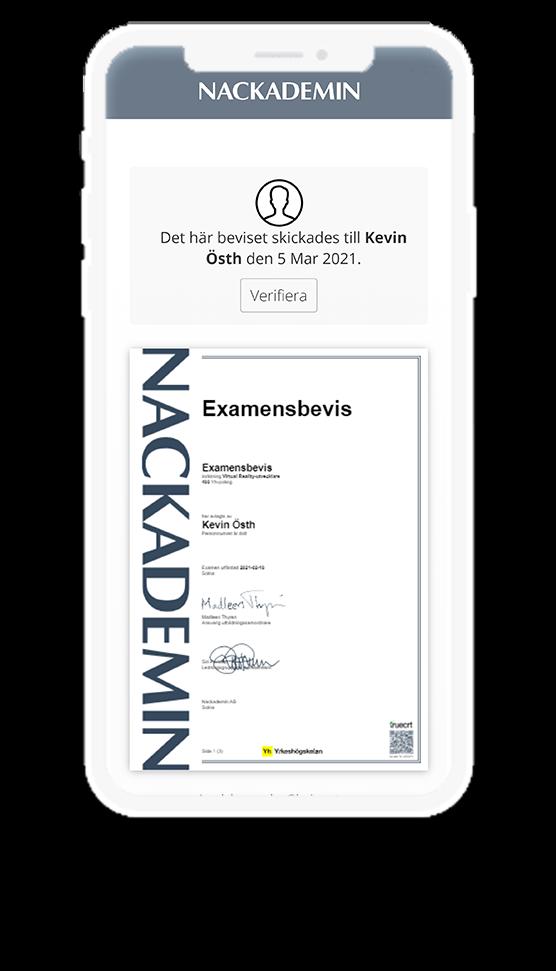 digital diploma in phone