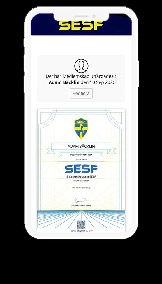 SESF digital diploma in phone